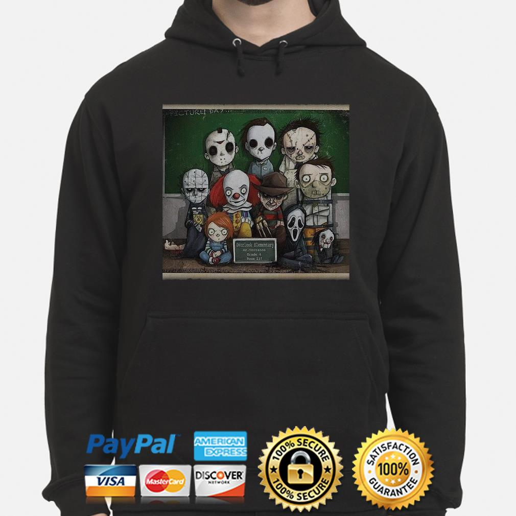 Horror characters student overlook elementary hoodie