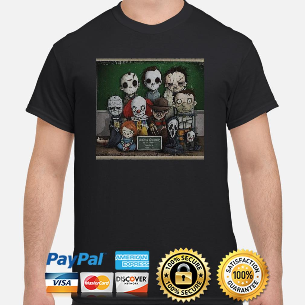 Horror characters student overlook elementary shirt