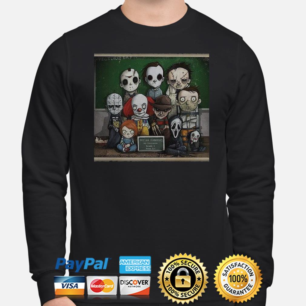 Horror characters student overlook elementary sweater