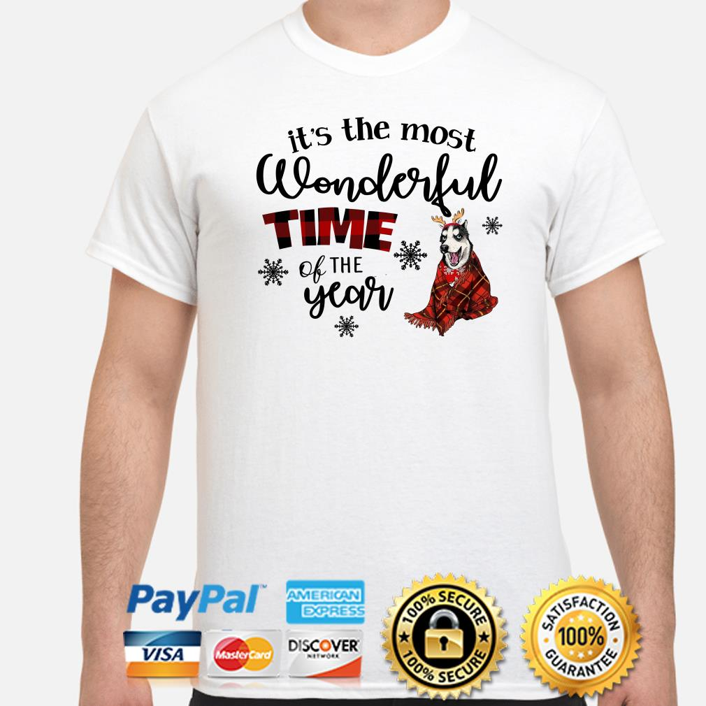 Husky It's the most wonderful time of the year Christmas shirt