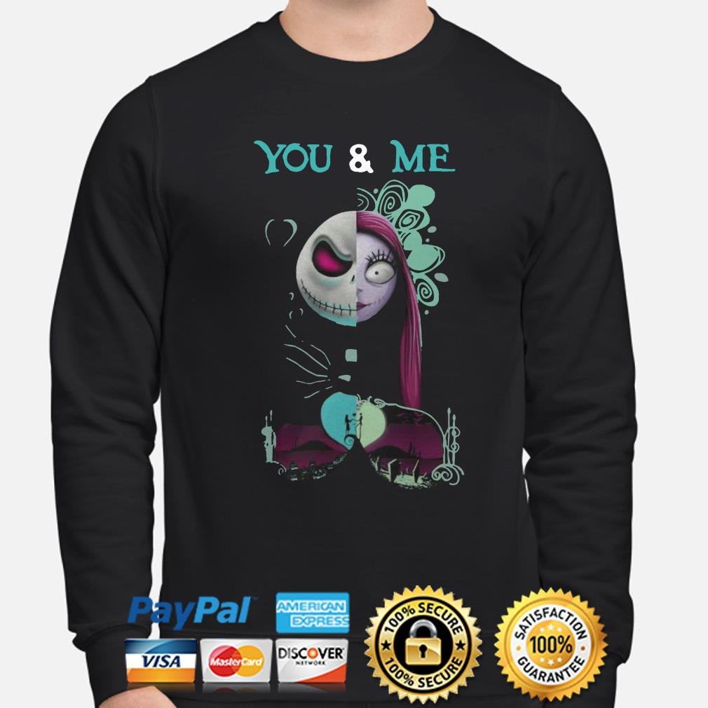 Jack Skellington and Sally You and Me Halloween sweater