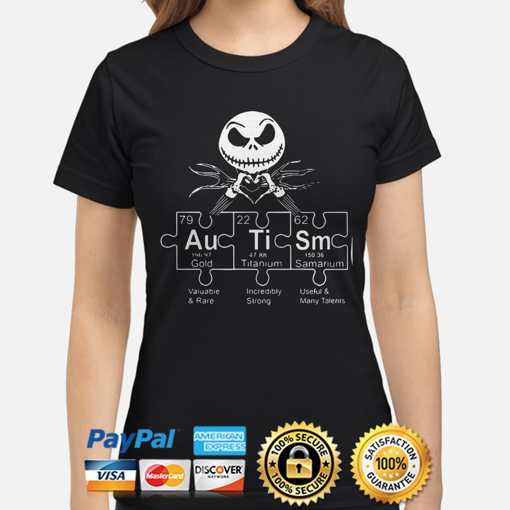 Jack Skellington Autism periodic table ladies shirt