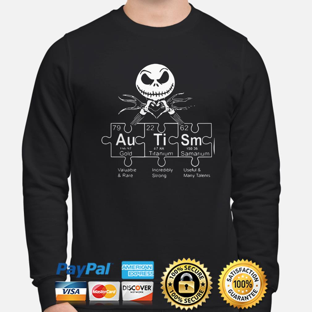 Jack Skellington Autism periodic table sweater
