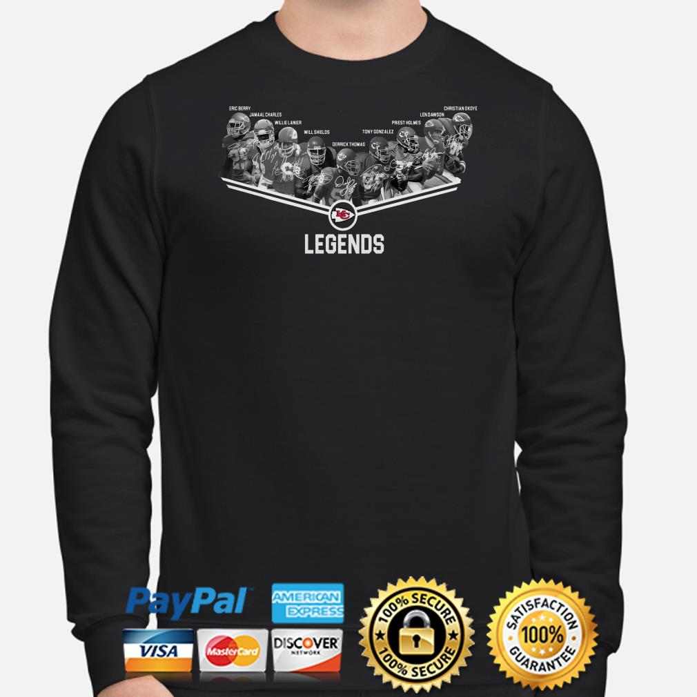 Kansas City Chiefs Legends players signature sweater