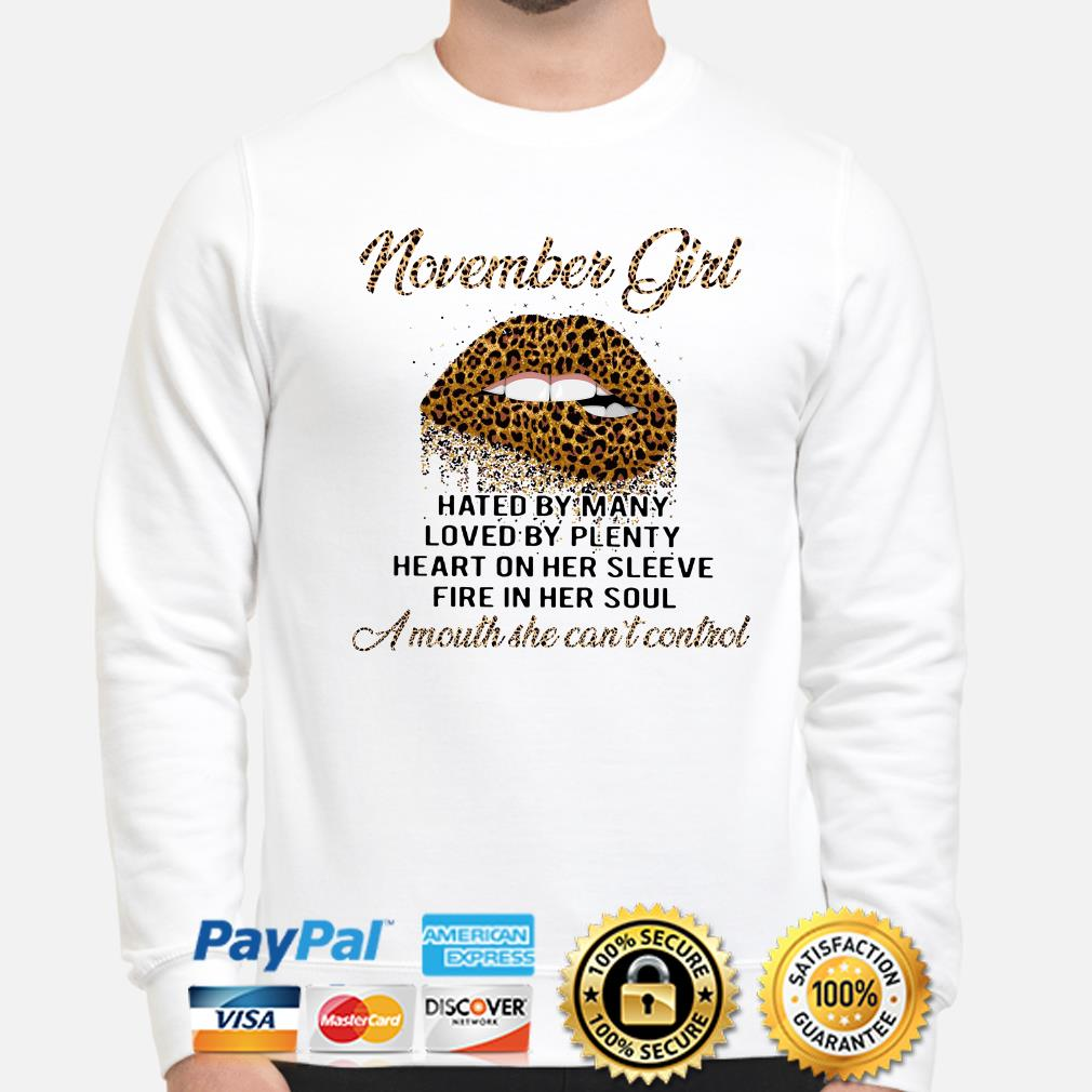 Leopard lip November girl hated by many loved by plenty sweater