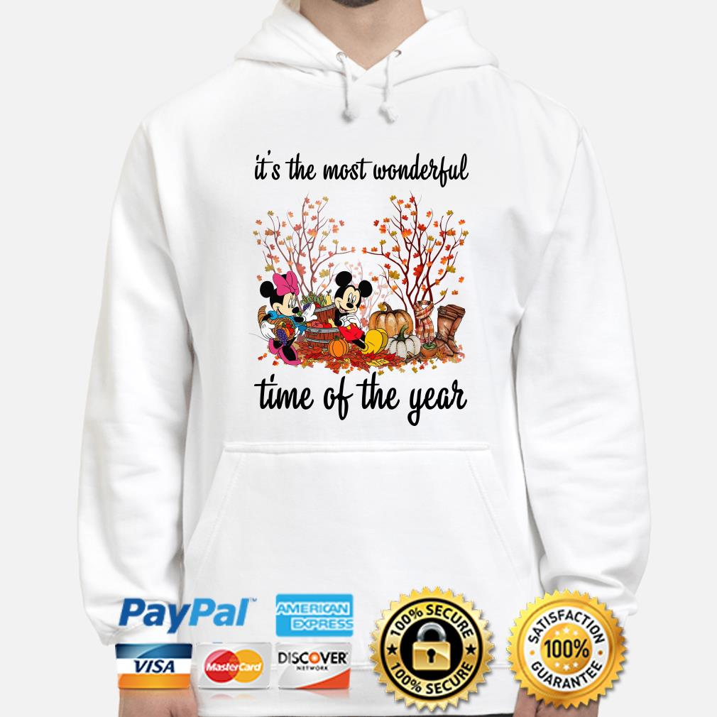 Mickey and Minnie Pumpkin it's the most wonderful time of the year hoodie