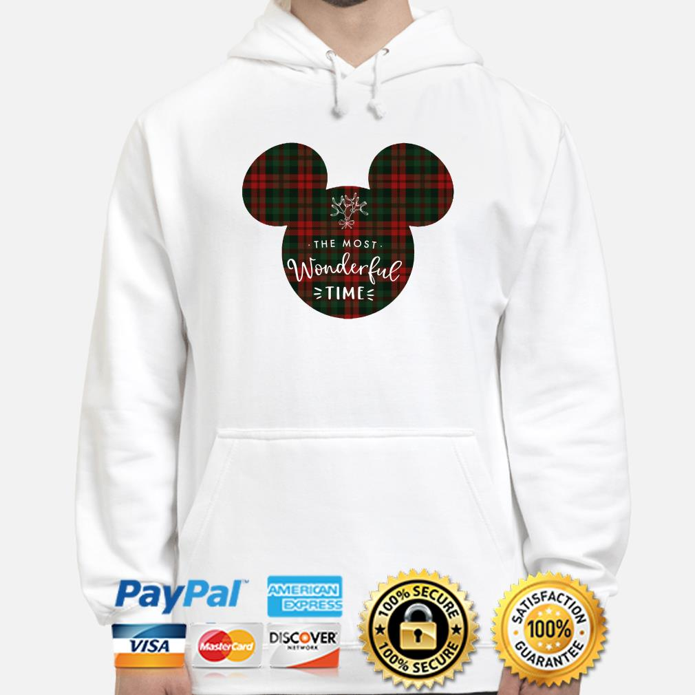 Mickey the most wonderful time Christmas hoodie