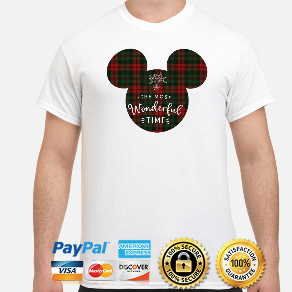 Mickey the most wonderful time Christmas shirt