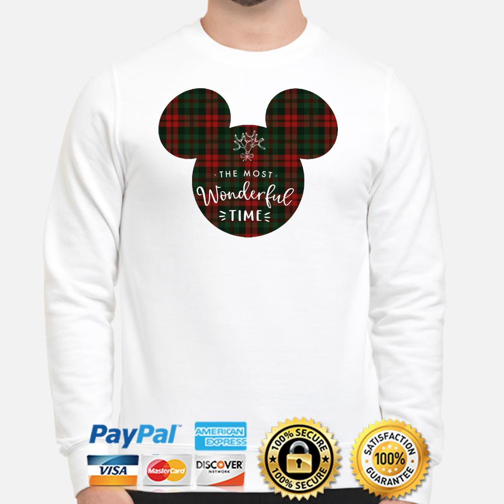 Mickey the most wonderful time Christmas sweater