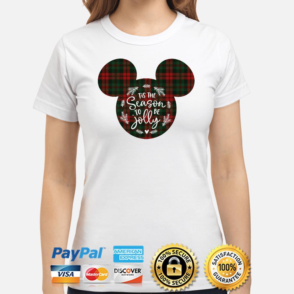 Mickey Tis the Season to be Jolly Christmas ladies shirt