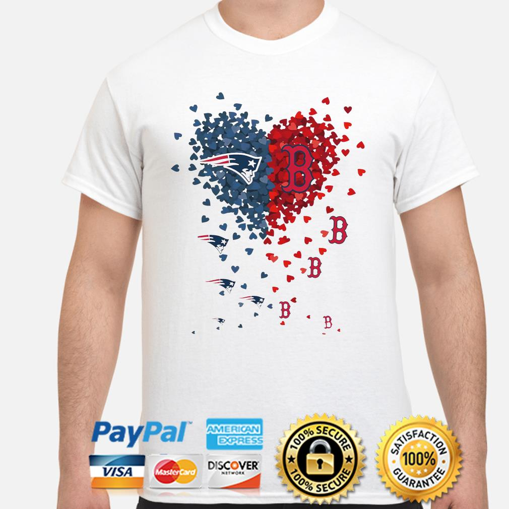 New England Patriots and Boston Red Sox love hearts shirt
