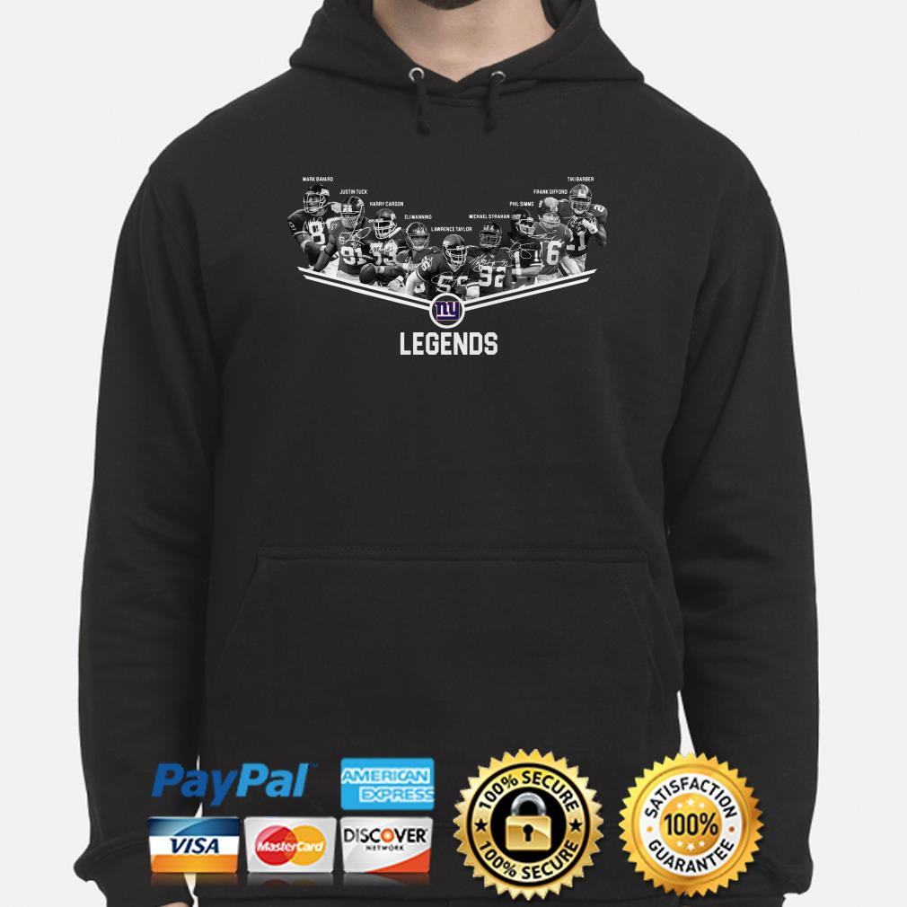 New York Giants Legends players signature hoodie