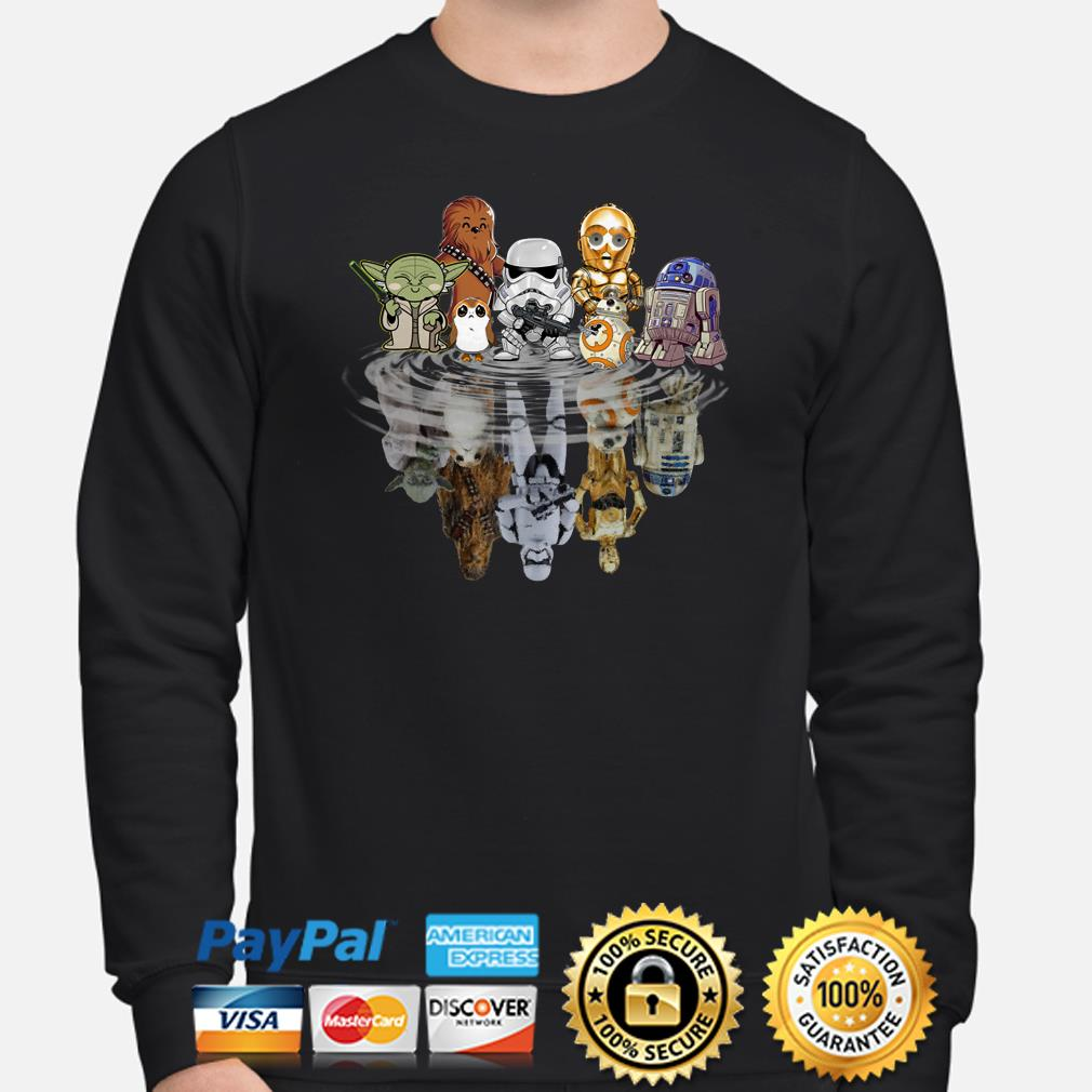 Star Wars Characters water mirror reflection sweater