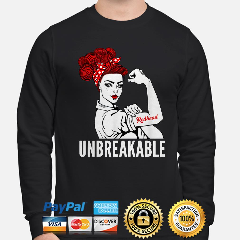 Strong girl Redhead Unbreakable sweater