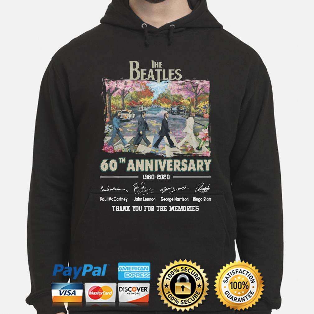 The Beatles Abbey Road 60th Anniversary thank you for the memories hoodie