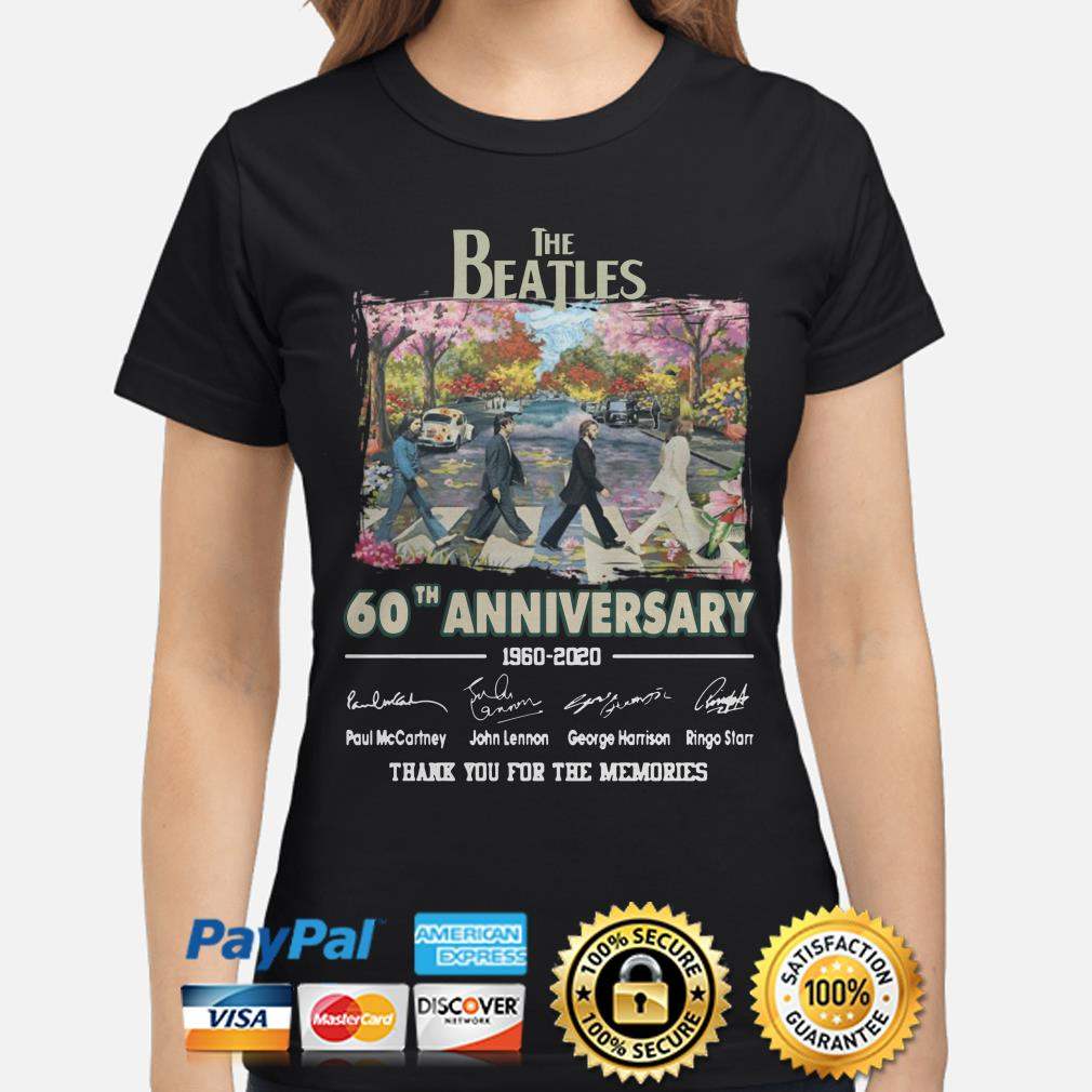 The Beatles Abbey Road 60th Anniversary thank you for the memories ladies shirt