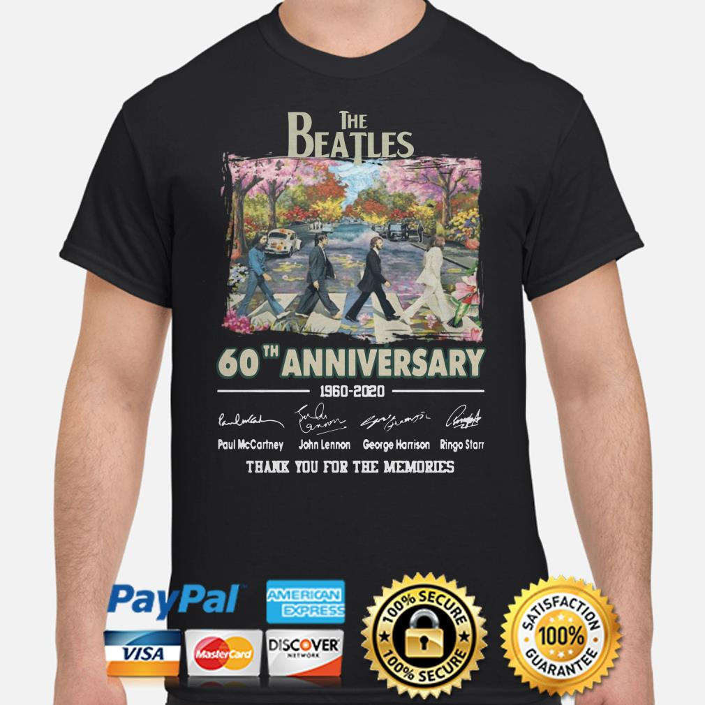 The Beatles Abbey Road 60th Anniversary thank you for the memories shirt