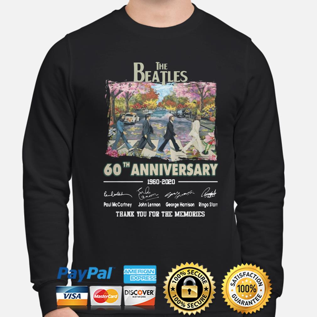 The Beatles Abbey Road 60th Anniversary thank you for the memories sweater