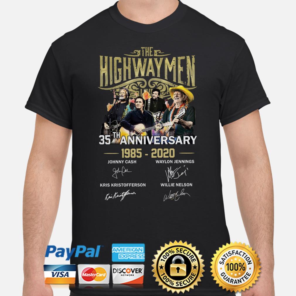 The Highwaymen 35th Anniversary signature shirt