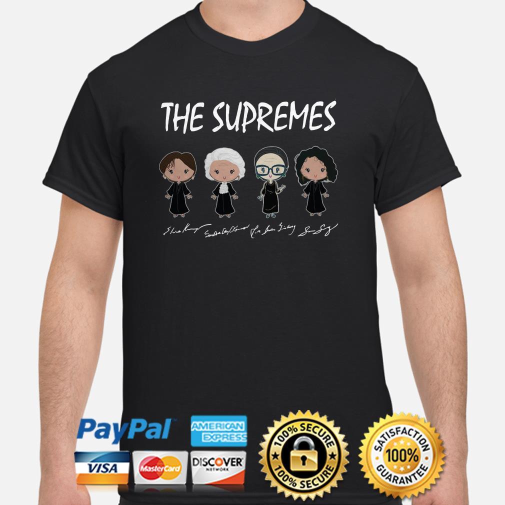 The Supremes Chibi signature shirt