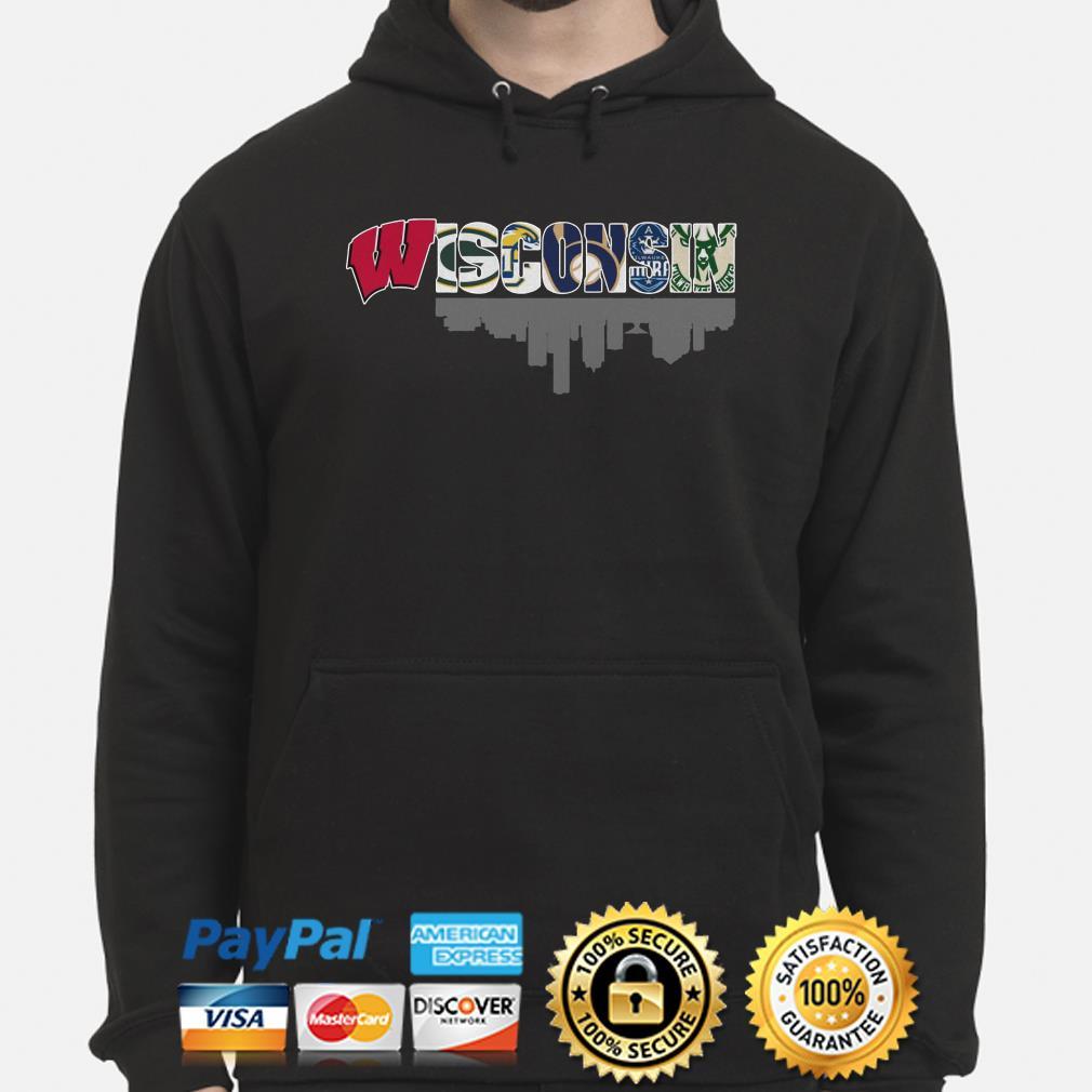 Wisconsin sports teams Badger Packer Brewer Bucks hoodie