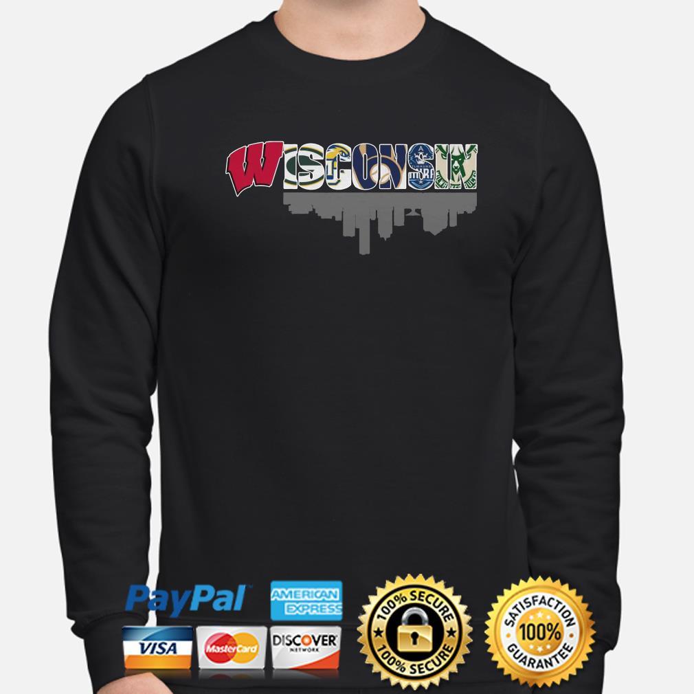 Wisconsin sports teams Badger Packer Brewer Bucks sweater
