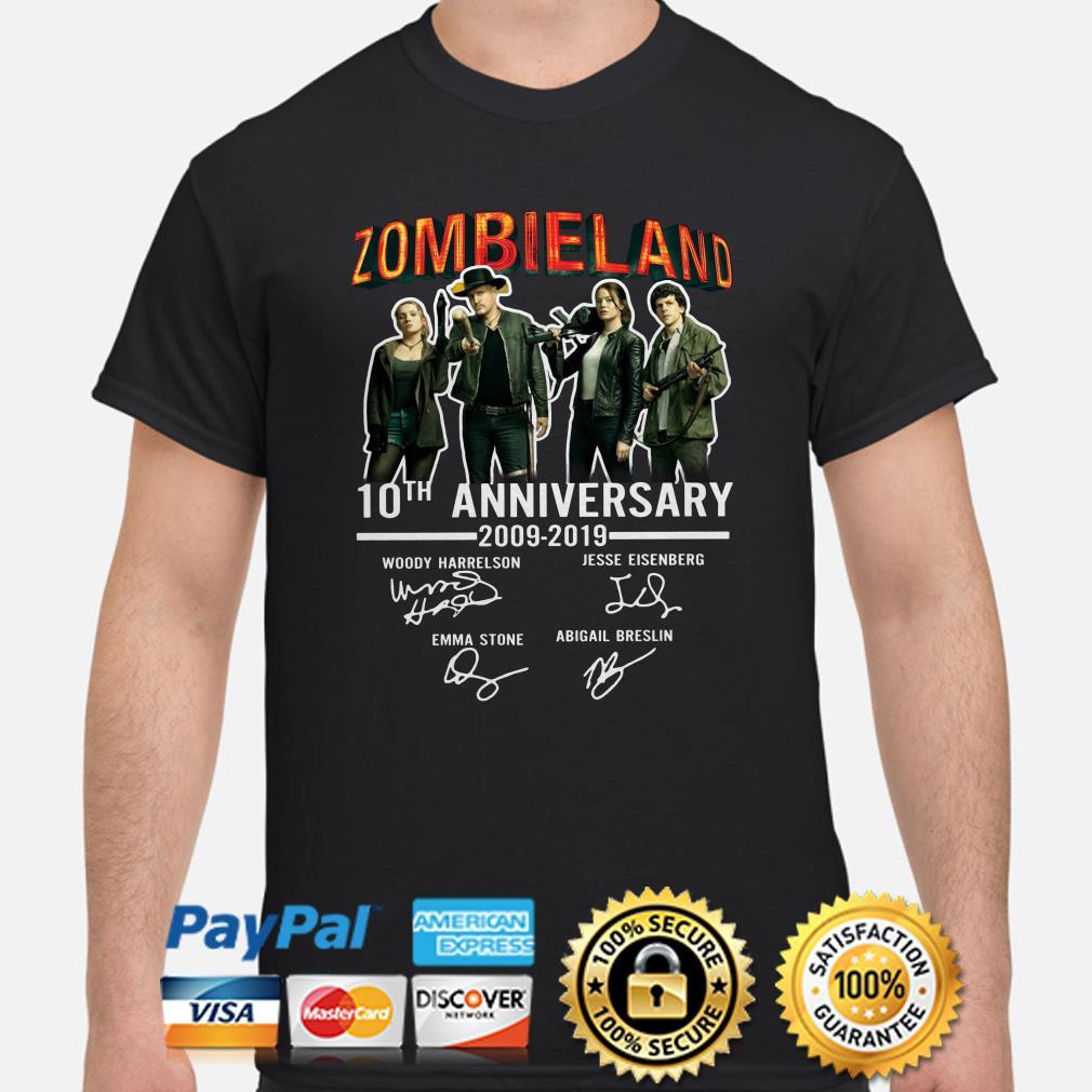 Zombieland 10th Anniversary signature shirt