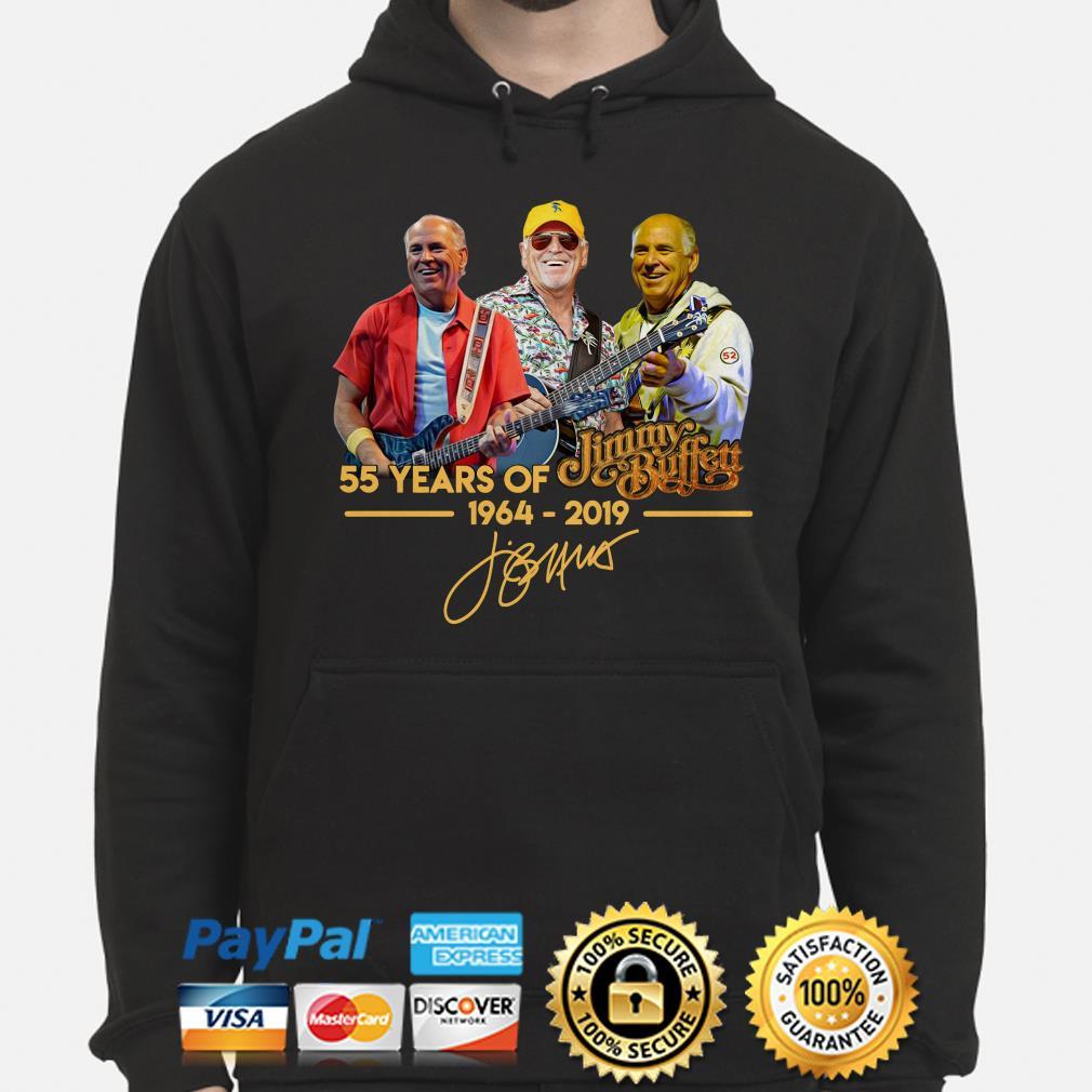 55 years of Jimmy Buffett 1964 2019 signature hoodie