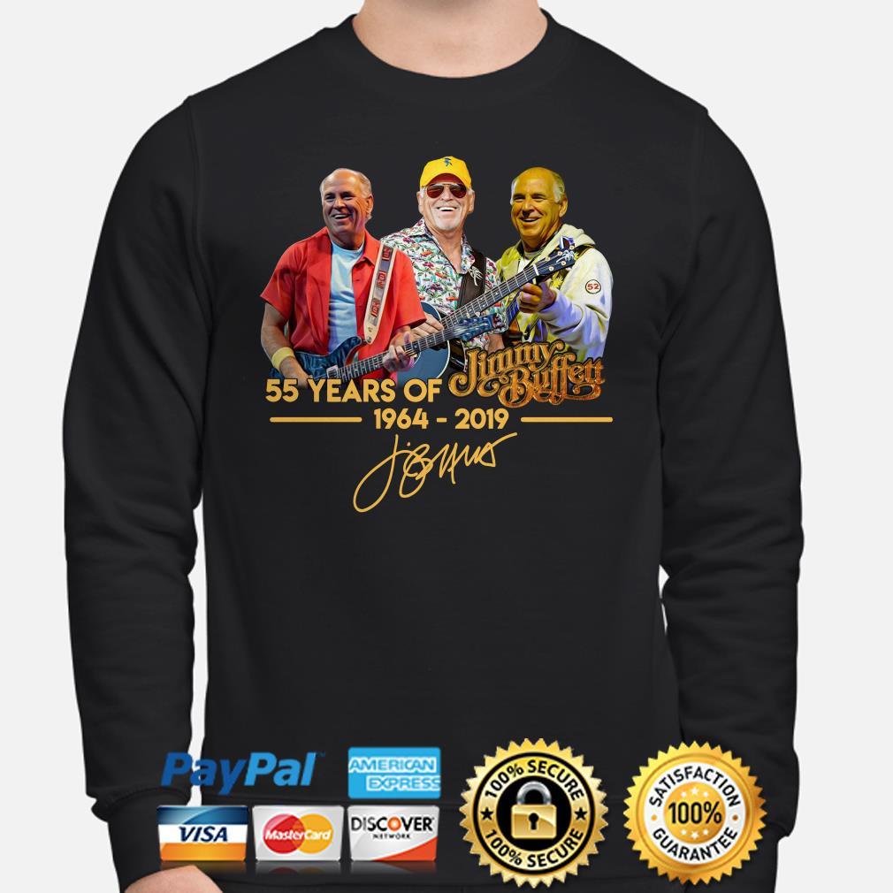 55 years of Jimmy Buffett 1964 2019 signature sweater