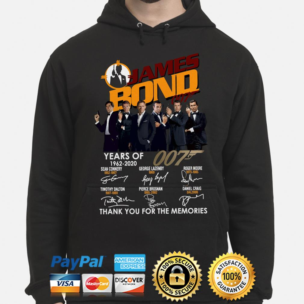 58 years of James Bond 007 thank you for the memories hoodie