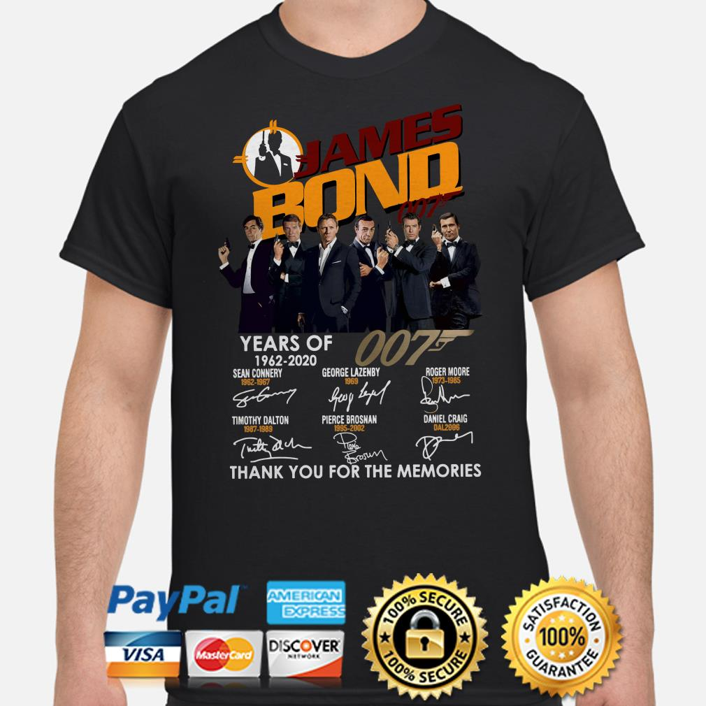 58 years of James Bond 007 thank you for the memories shirt