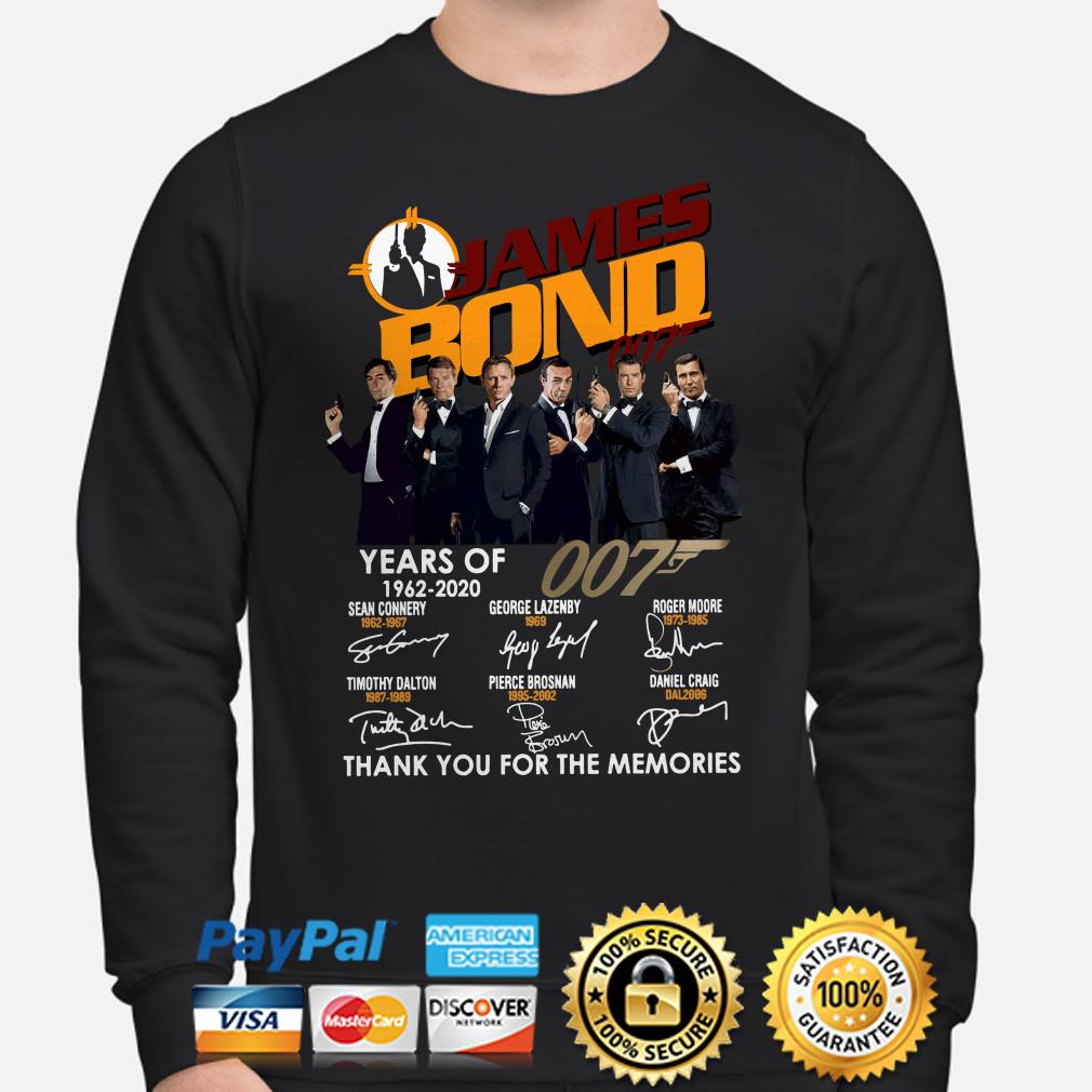 58 years of James Bond 007 thank you for the memories sweater