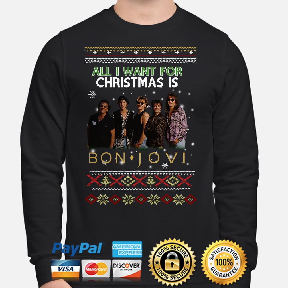 All I want for Christmas is Bon Jovi ugly sweater
