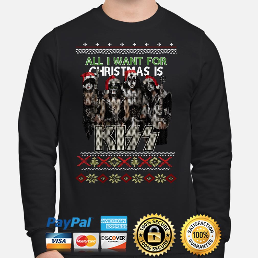 All I want for Christmas is Kiss ugly sweater