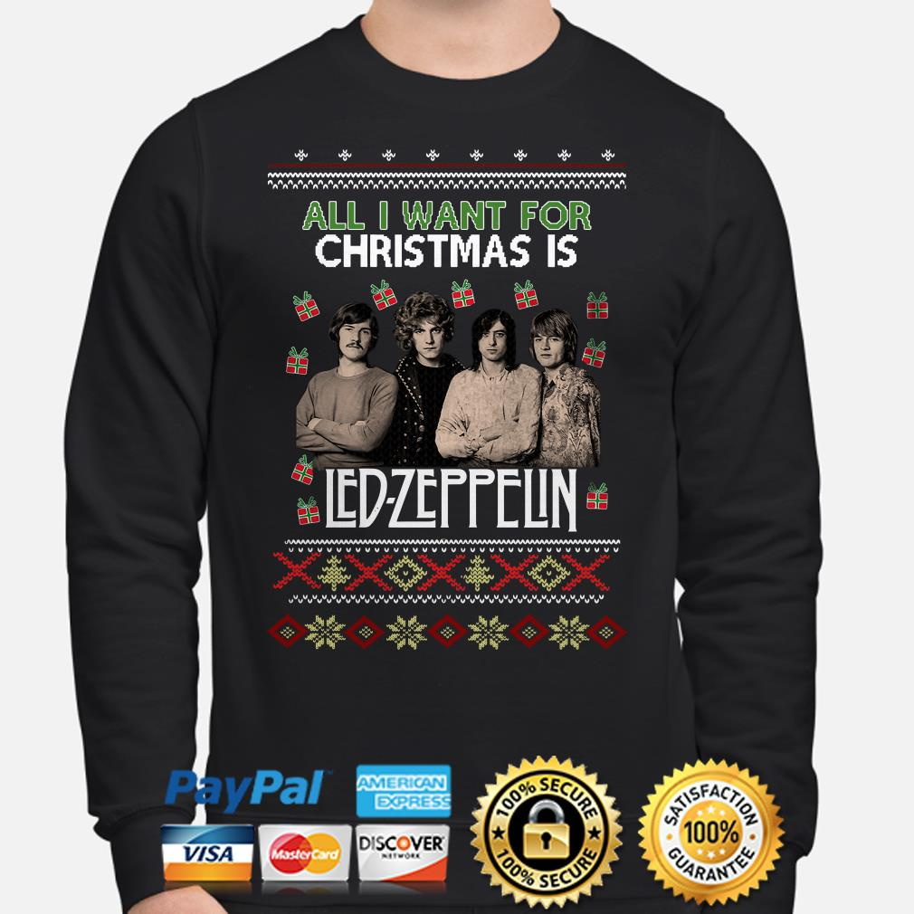 All I want for Christmas is Led Zeppelin ugly sweater
