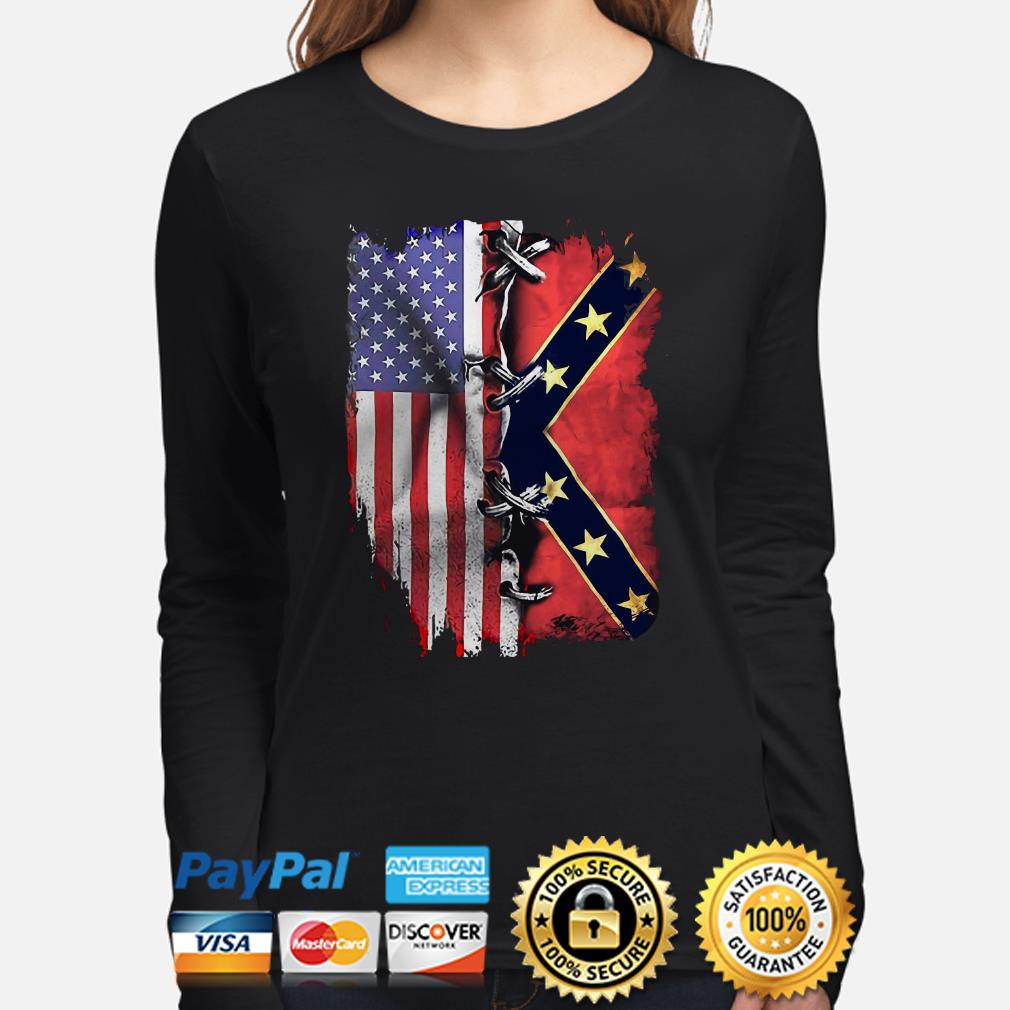 American flag and Mississippi flag Long sleeve