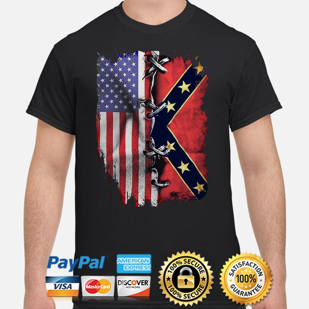 American flag and Mississippi flag shirt