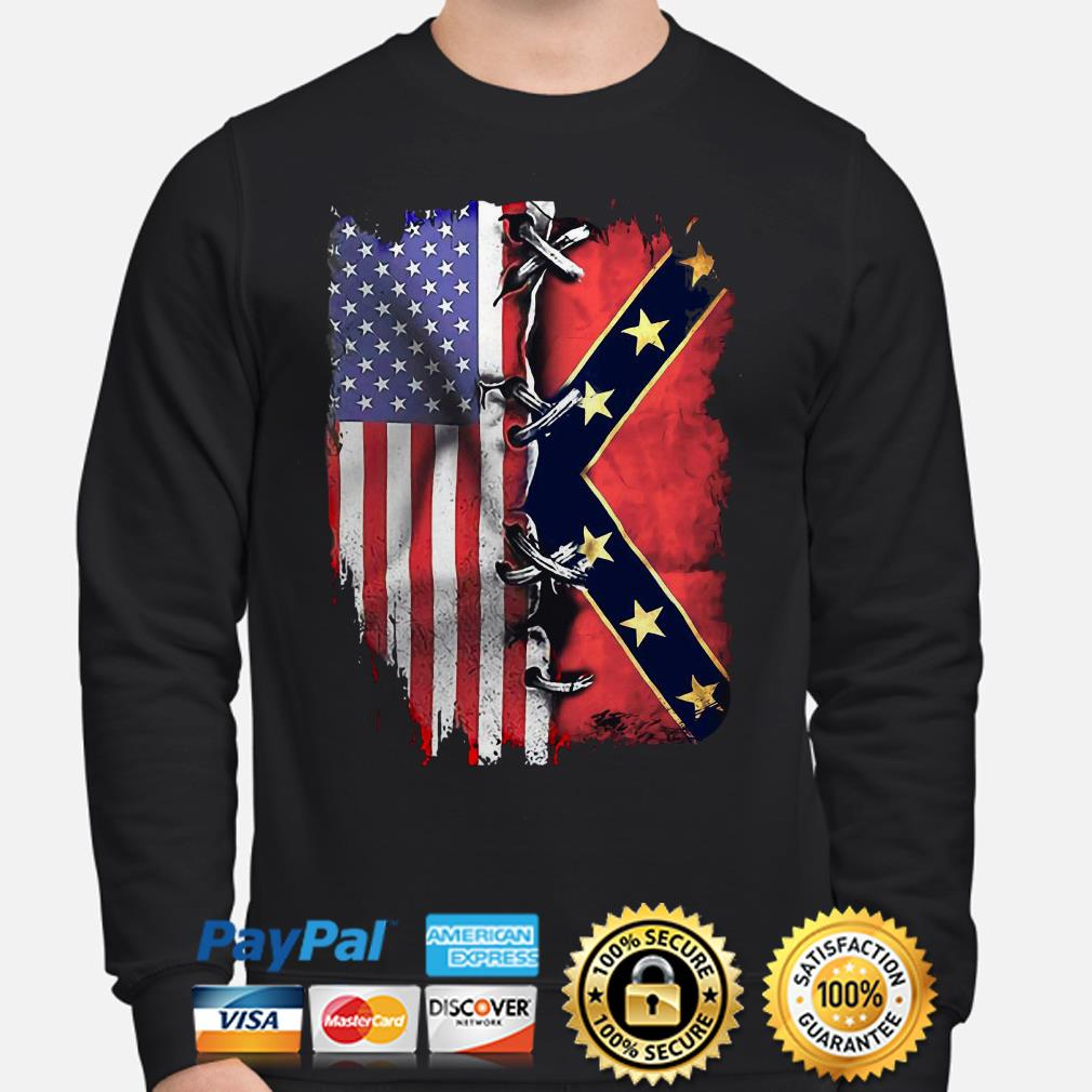 American flag and Mississippi flag Sweater