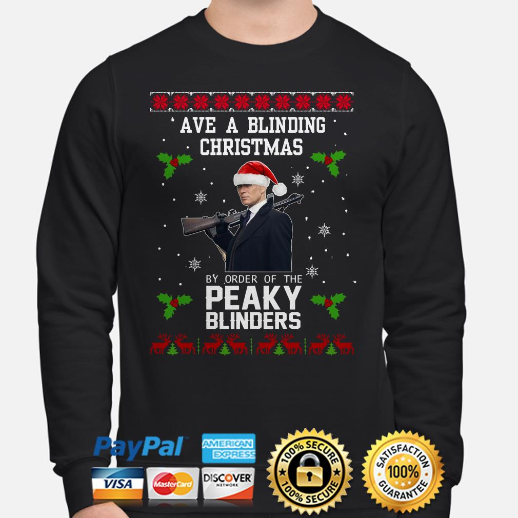 Ave a Blinding Christmas by order of the Peaky Blinders ugly Christmas sweater