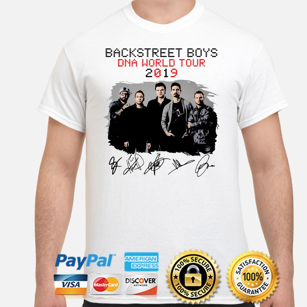 Backstreet Boys DNA World Tour 2019 signature shirt