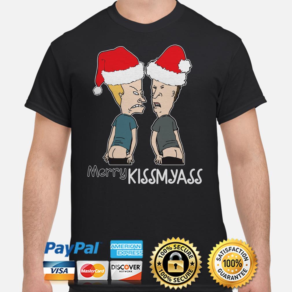 Beavis and But-Head Merry Kissmyass Christmas t-shirt
