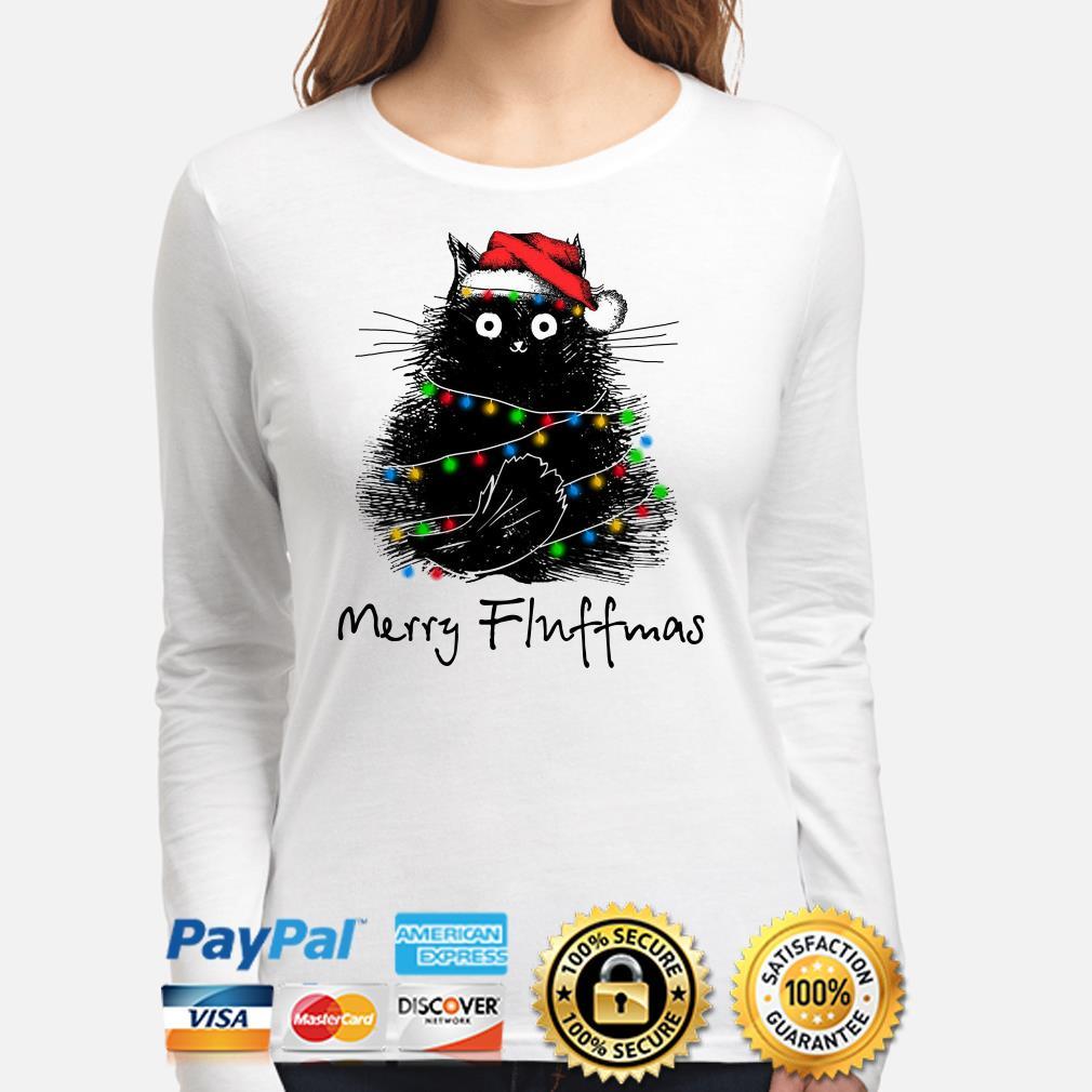Black cat Merry Fluffmas Christmas long sleeve