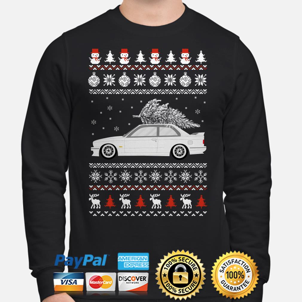 BMW E30 Coupe ugly Christmas sweater