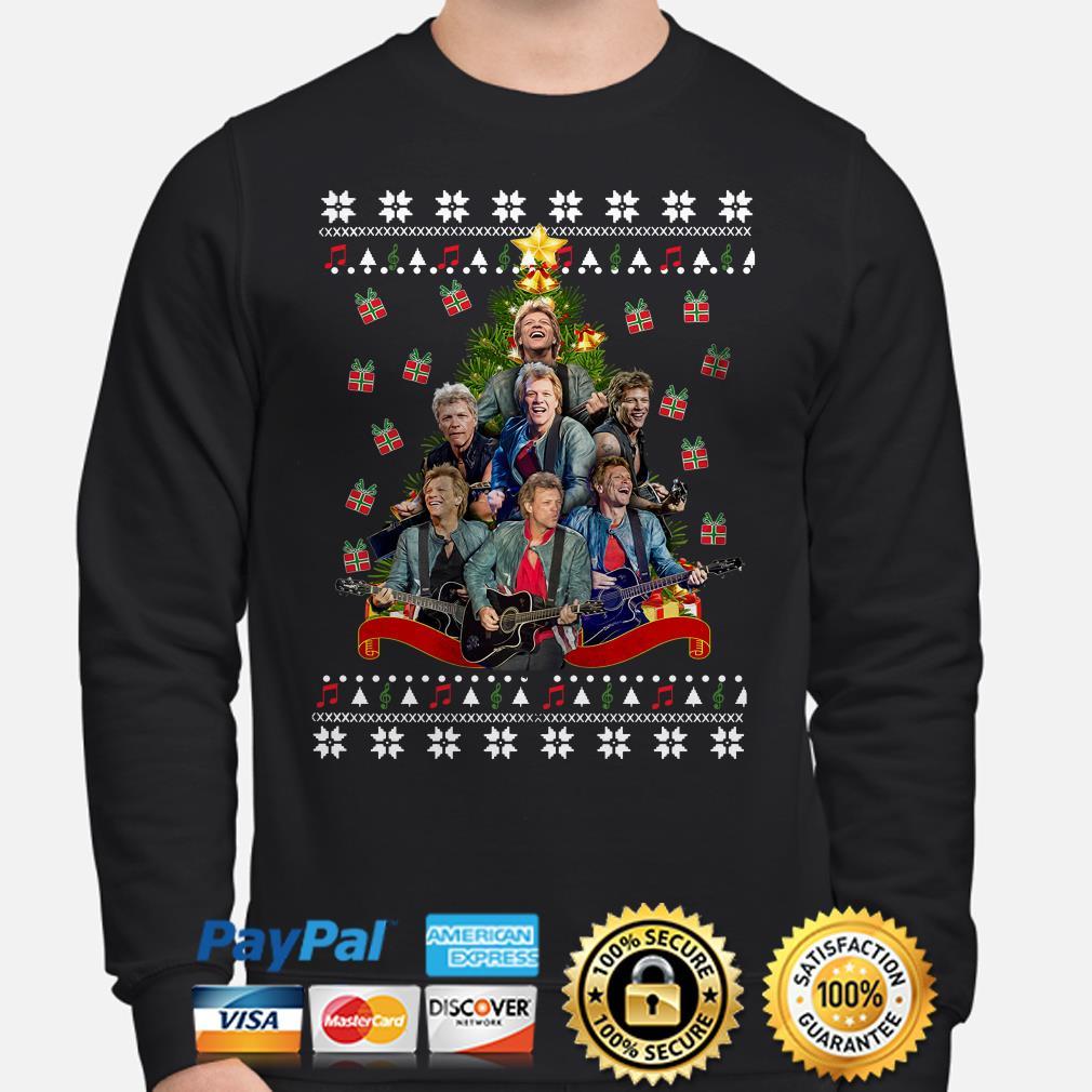Bon Jovi Christmas tree ugly sweater