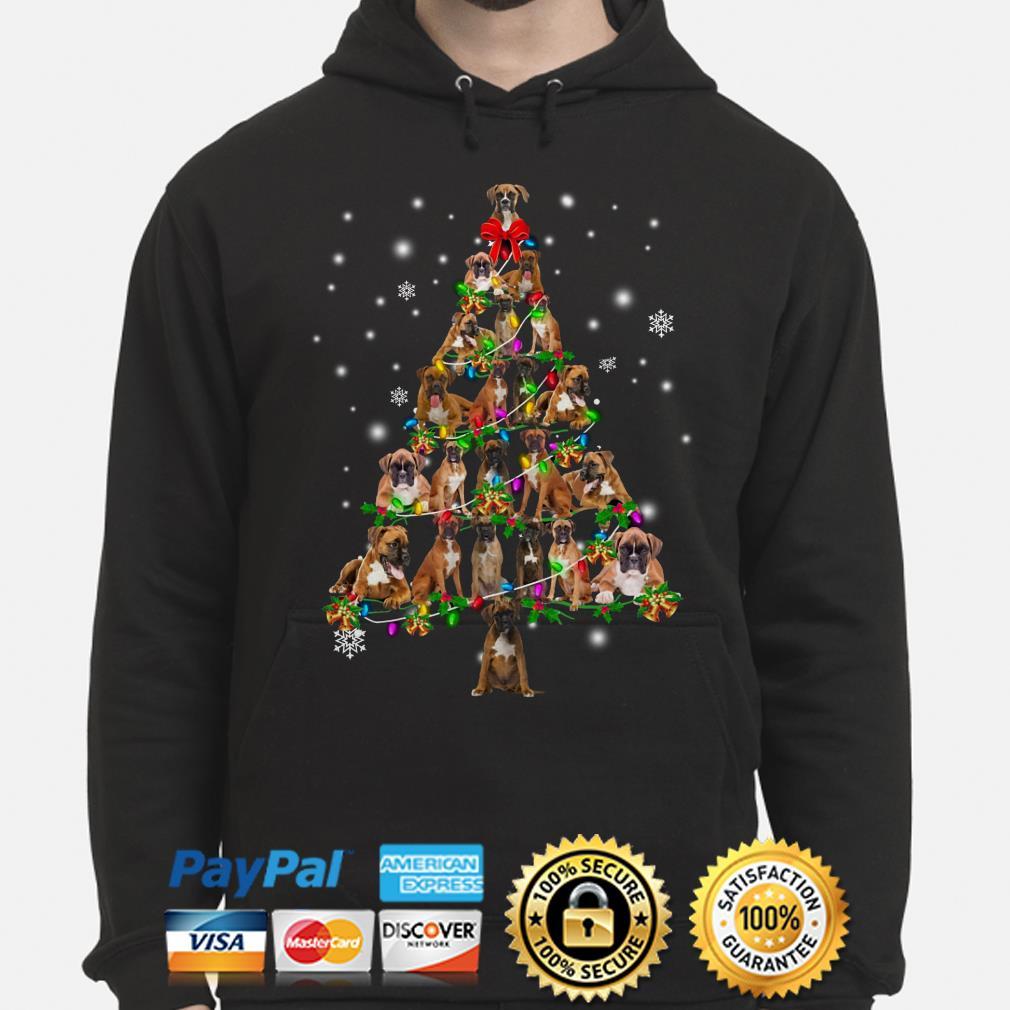 Boxer Christmas Tree Xmas hoodie