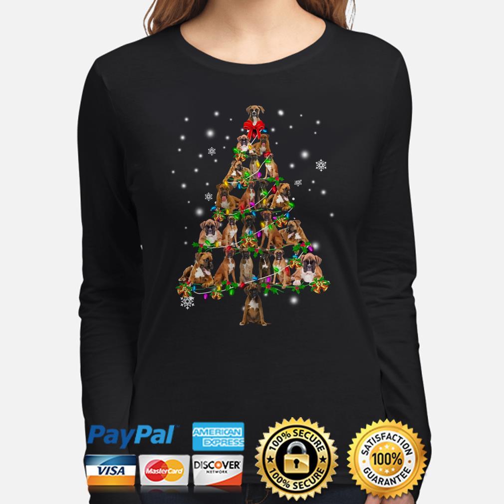 Boxer Christmas Tree Xmas long sleeve