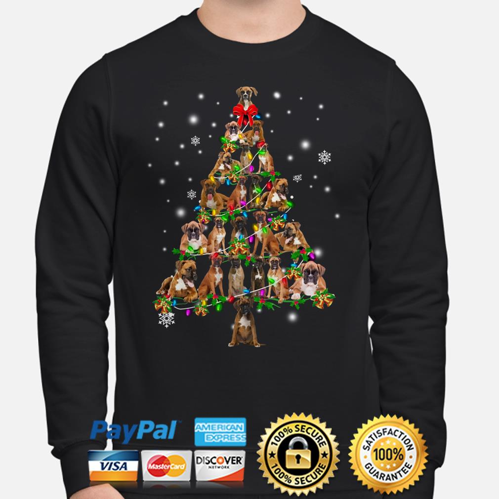 Boxer Christmas Tree Xmas sweater
