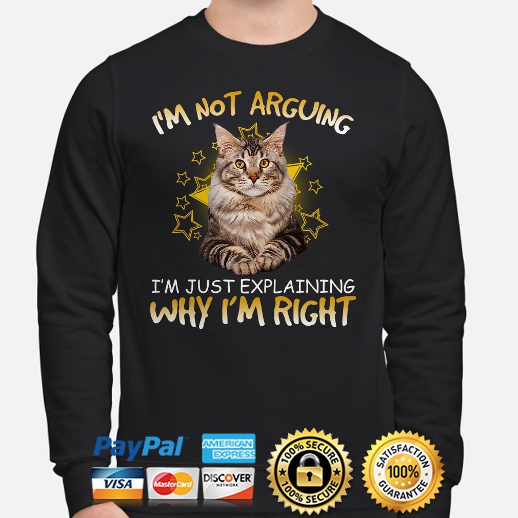 Cat I'm not arguing I'm just explaining why I'm right sweater