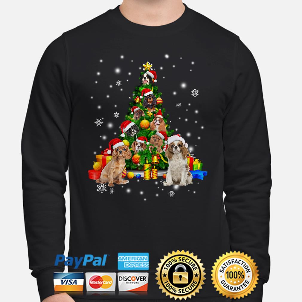 Cavalier King Charles Spaniels Christmas tree Sweater