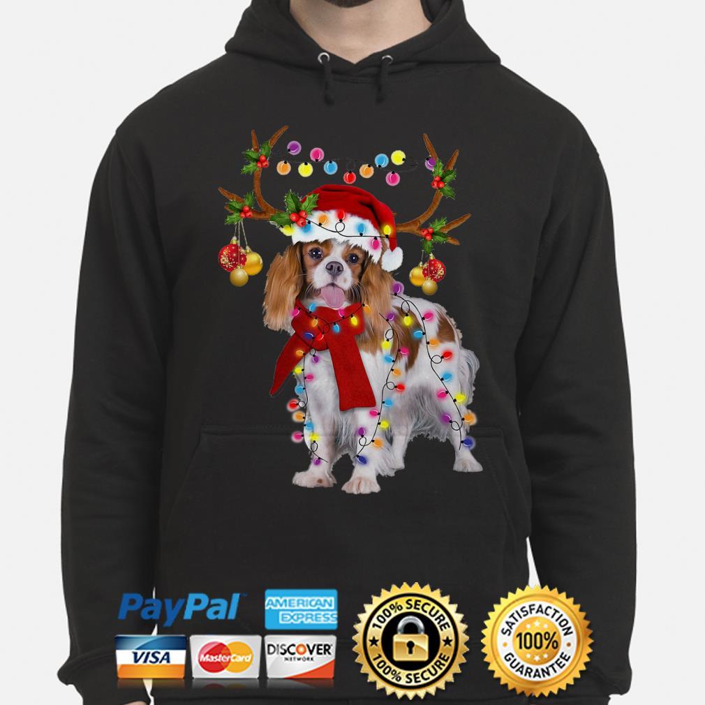 Cavalier King gorgeous reindeer Christmas hoodie